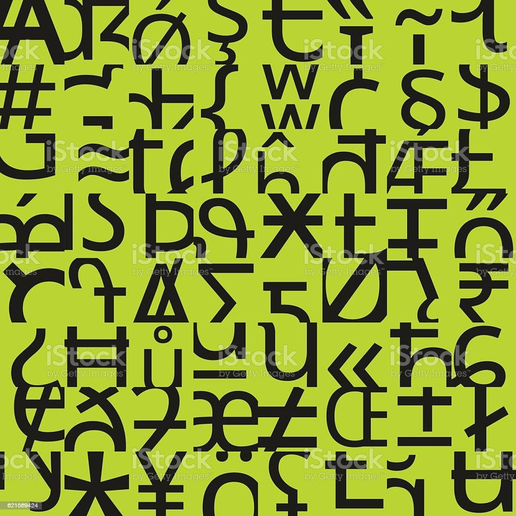 Typographic seamless pattern typographic seamless pattern – cliparts vectoriels et plus d'images de abstrait libre de droits