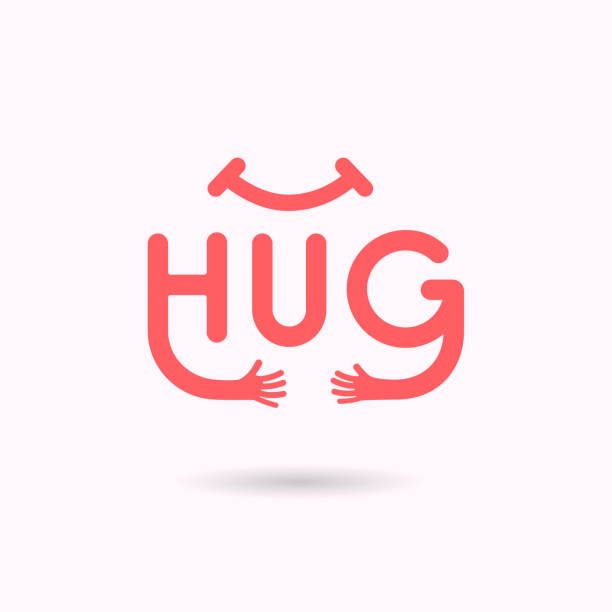 """""""HUG"""" typographical and Hand icon.Embrace or hug icons vector logo design.Hugs and Love yourself symbol.Love concept.Valentine's Day Vector Card.Love & Happy valentines day concept.Vector illustration """"HUG"""" typographical and Hand icon.Embrace or hug icons vector logo design.Hugs and Love yourself symbol.Love concept.Valentine's Day Vector Card.Love & Happy valentines day concept.Vector illustration hug stock illustrations"""