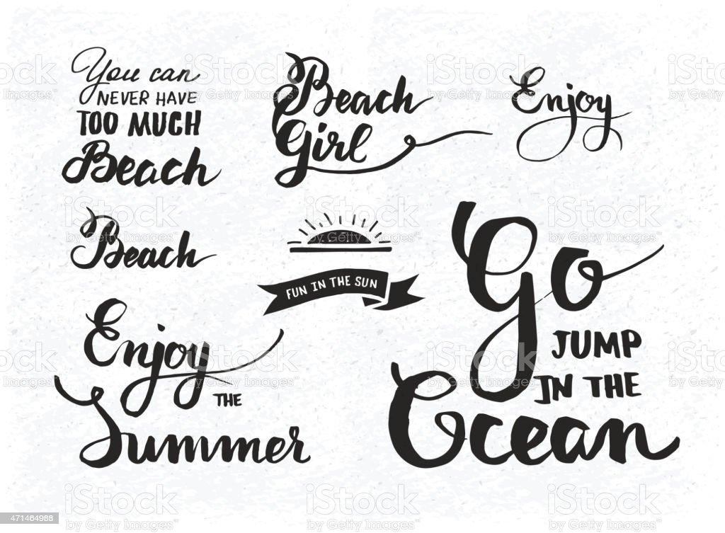 Satz Von Sommer Motivierende Zitate über Strand Urlaub Und