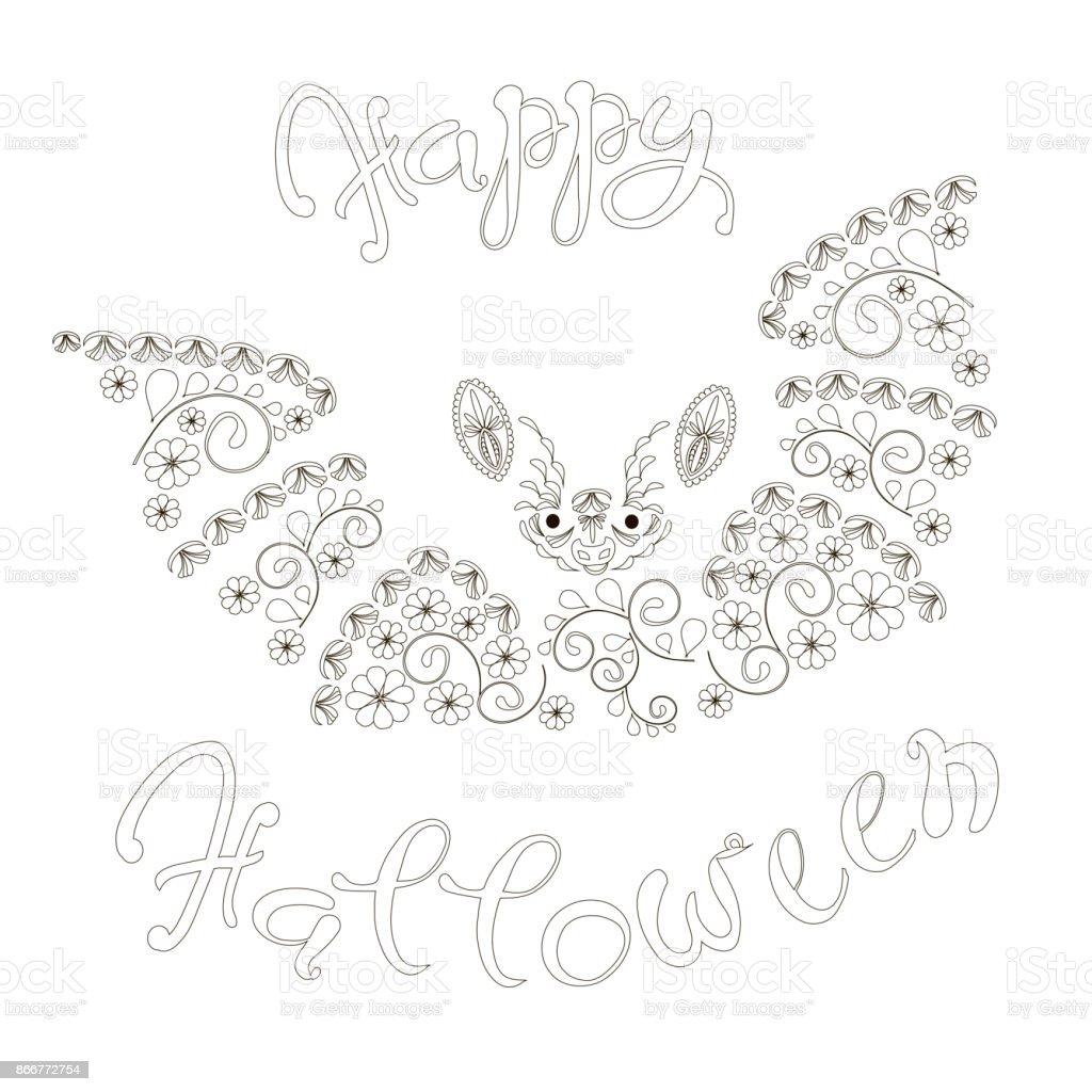 Tipografi Afiş Cadılar Bayramın Kutlu Olsun Tek Renkli El çekilmiş