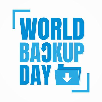 Typography for World Backup Day folder arrow