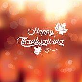 typography Happy Thanksgiving