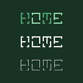 HOME Typography Series Vector EPS File.