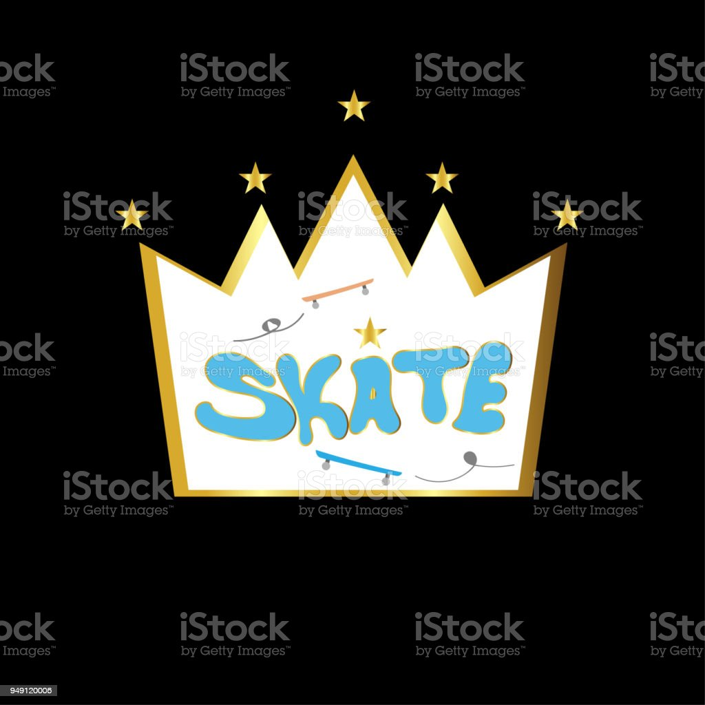 Typography slogan with skate for t shirt printing and embroidery, Graphic tee.vector illustration vector art illustration