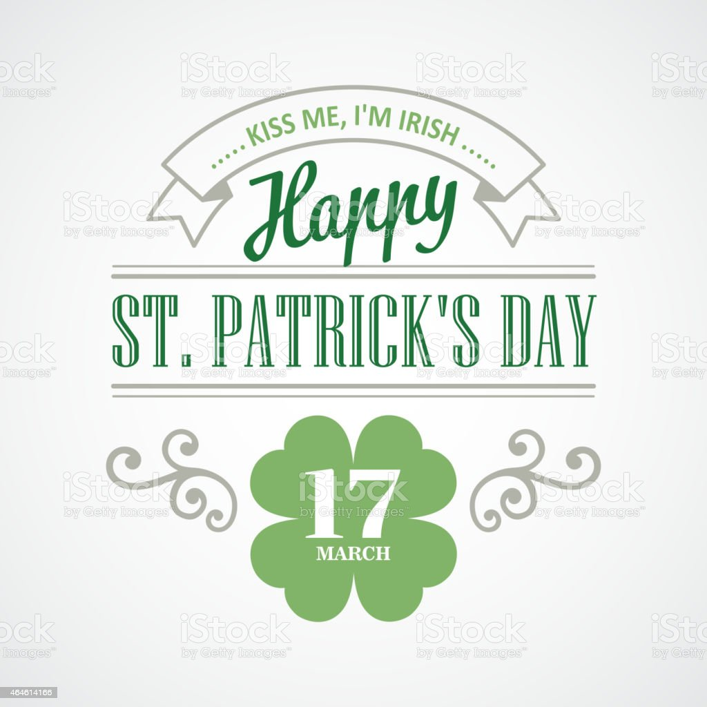 Typography St. Patricks Day. Vector illustration vector art illustration