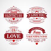 Typography Valentine's Day cards