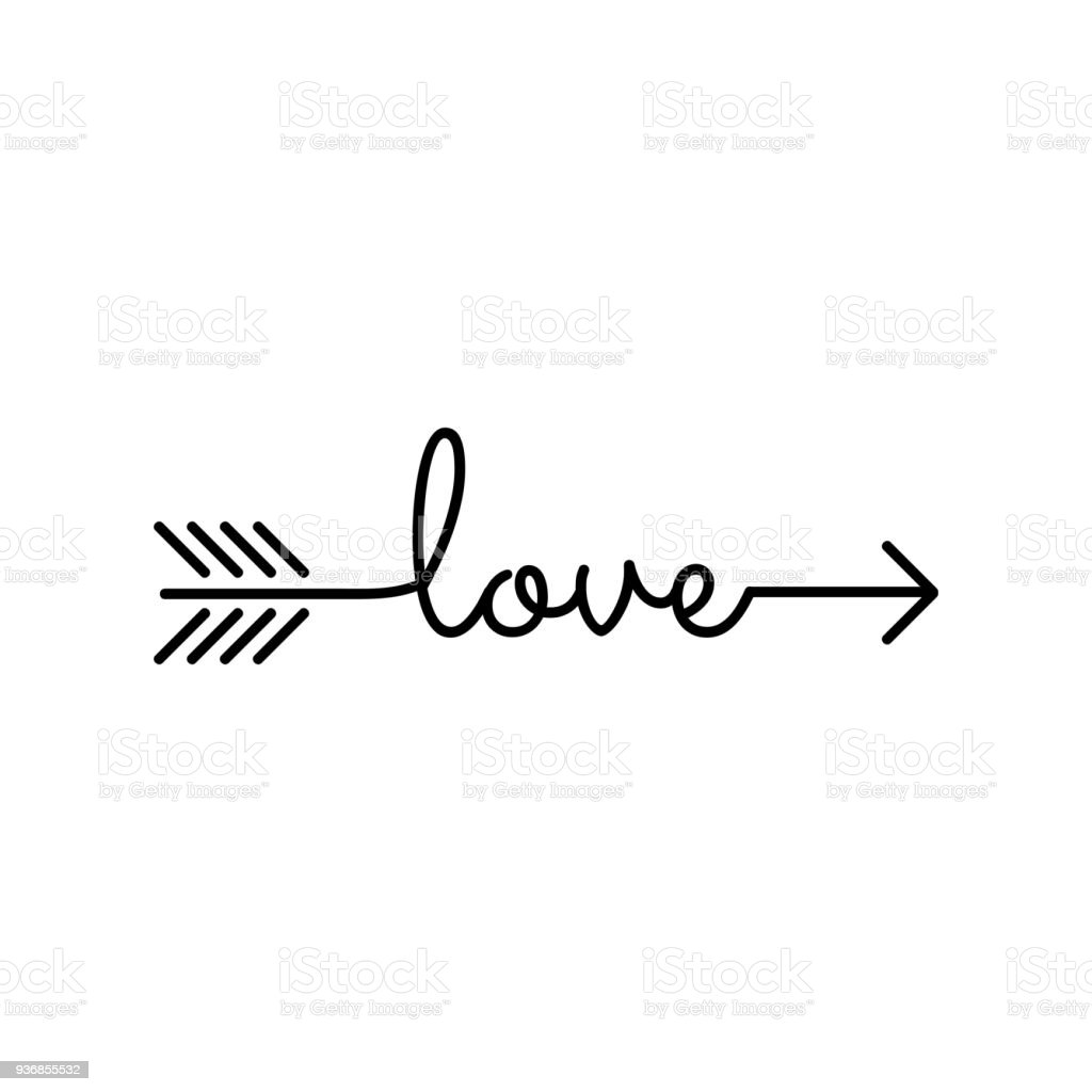 typography word love starts an ends with arrow stock vector art rh istockphoto com