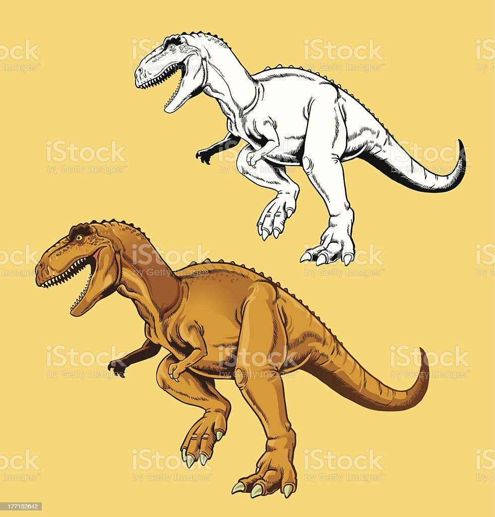 Tyrannosaur Rex vector art illustration