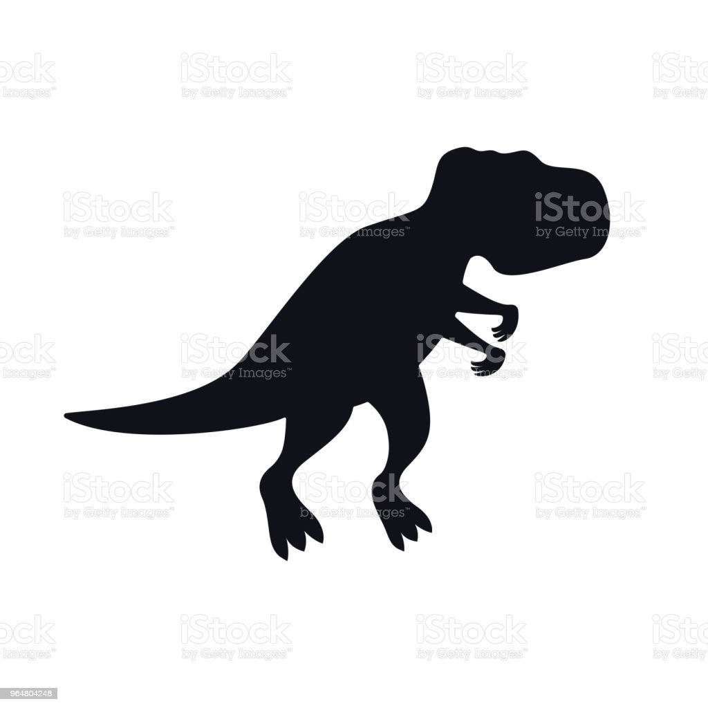 Tyrannosaurus black silhouette on white royalty-free tyrannosaurus black silhouette on white stock vector art & more images of aggression