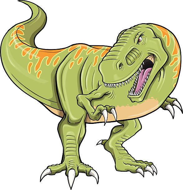 Tyrannosaurus Dinosaur vector art illustration