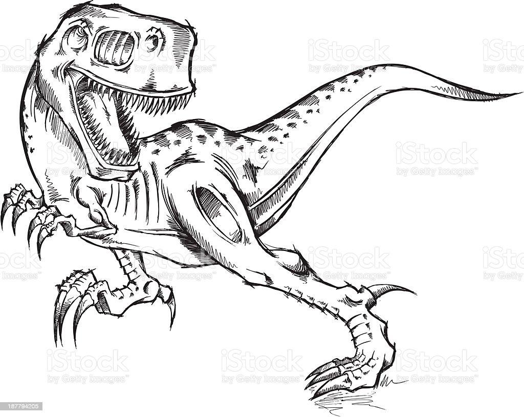 Vetores De Esboco Doodle Tiranossauro Rex De Dinossauro E Mais