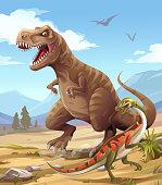 istock Tyrannosaurus Rex Hunting 1193299713