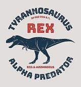 Tyrannosaurus rex t-shirt design, print, typography. Vector illustration.