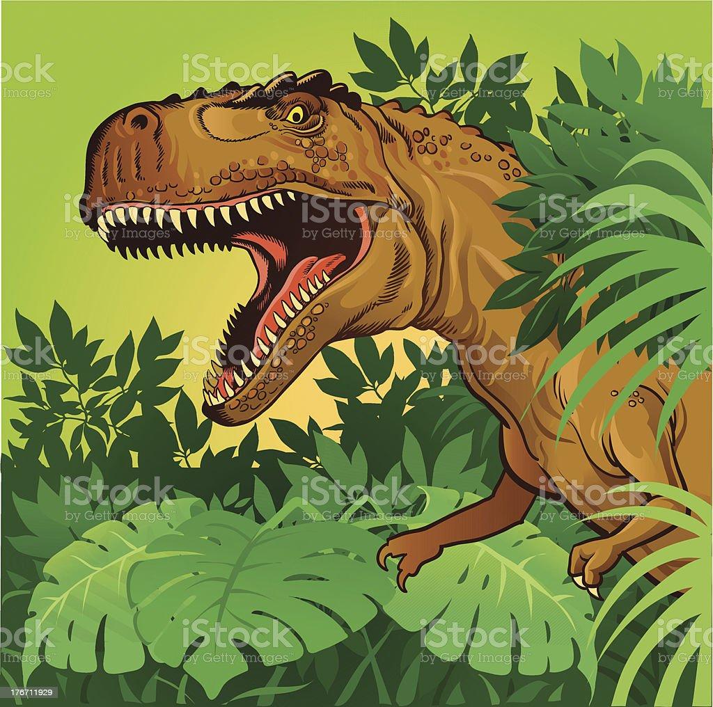 Tiranossauro Rex - ilustração de arte em vetor