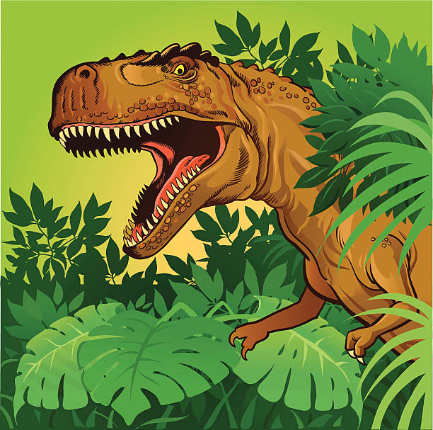 tyrannosaurus rex - dinosaur stock illustrations, clip art, cartoons, & icons