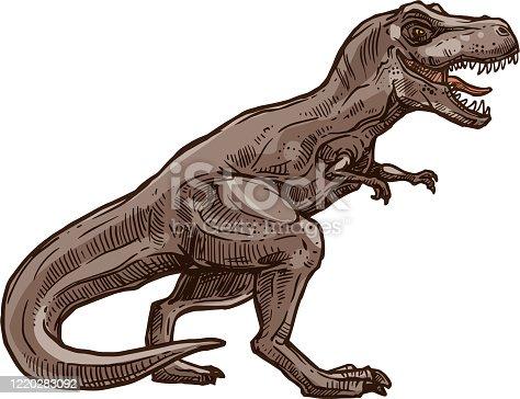 istock Tyrannosaurus T-rex isolated triceratops dino 1220283092