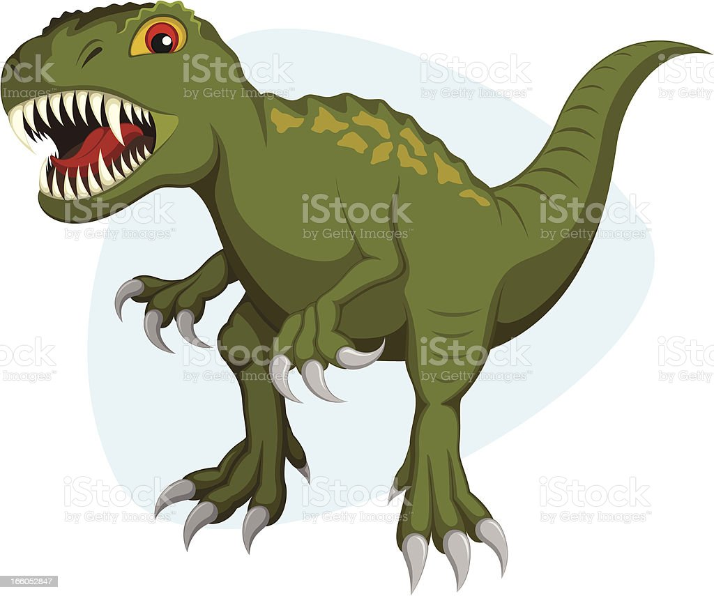 Tyrannosaurus royalty-free stock vector art
