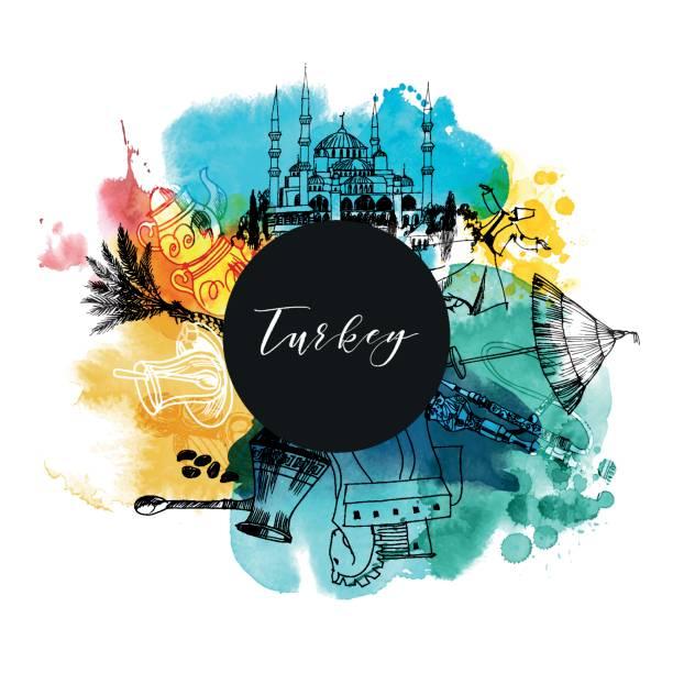 tyrkey - turcja stock illustrations