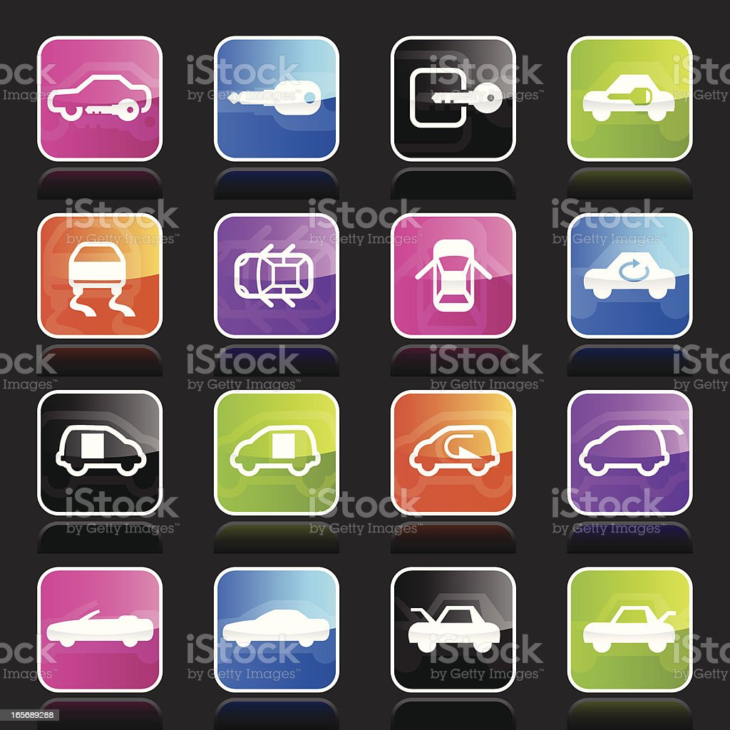 Ubergloss Icons - Car Control Indicators royalty-free ubergloss icons car control indicators stock vector art & more images of blue