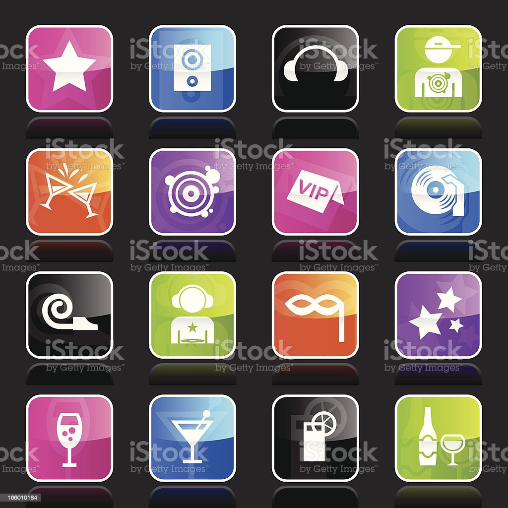 Ubergloss Icons - Club royalty-free ubergloss icons club stock vector art & more images of alcohol