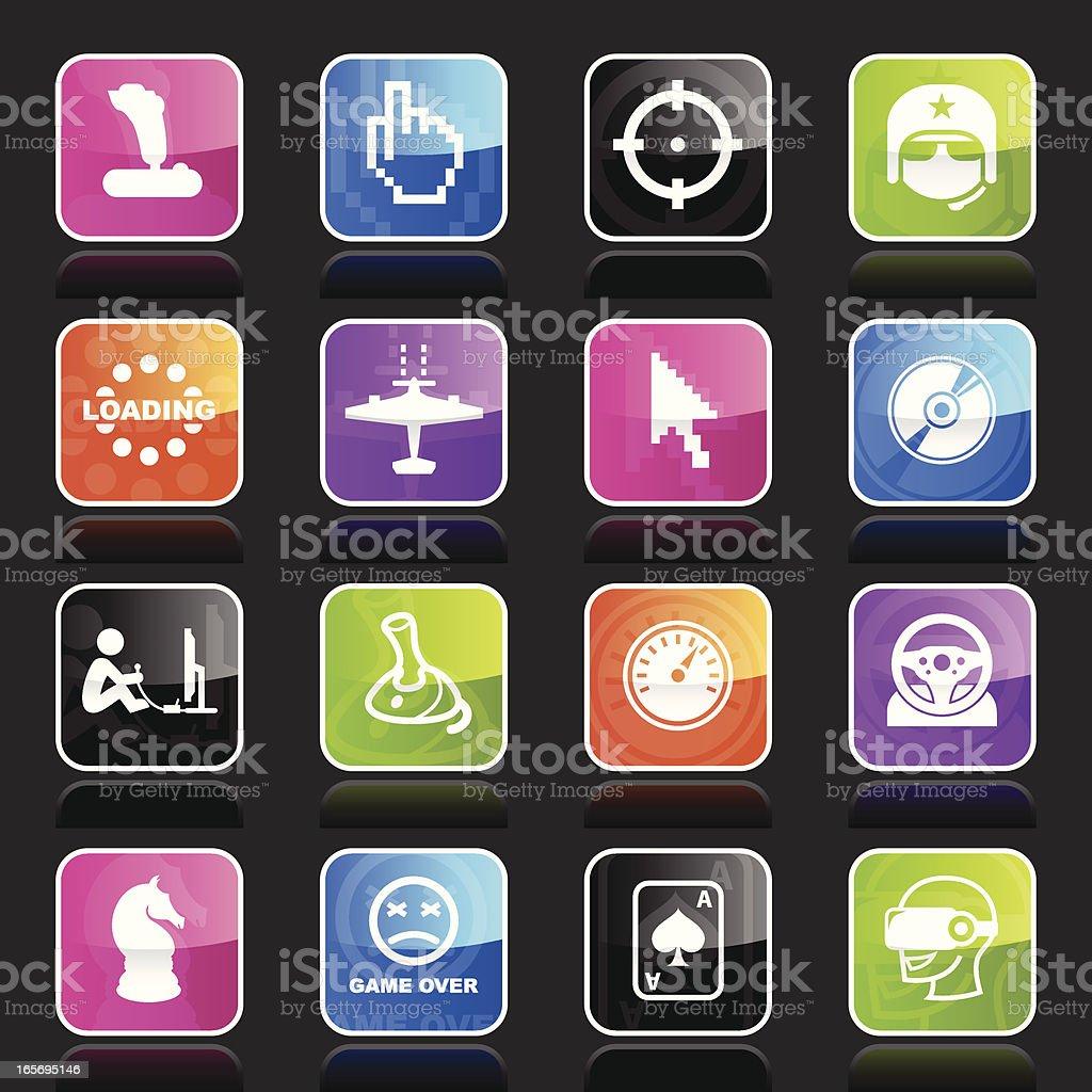 Ubergloss Icons - Computer Gaming royalty-free stock vector art