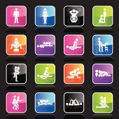 16 super glossy icons representing different erotic positions.
