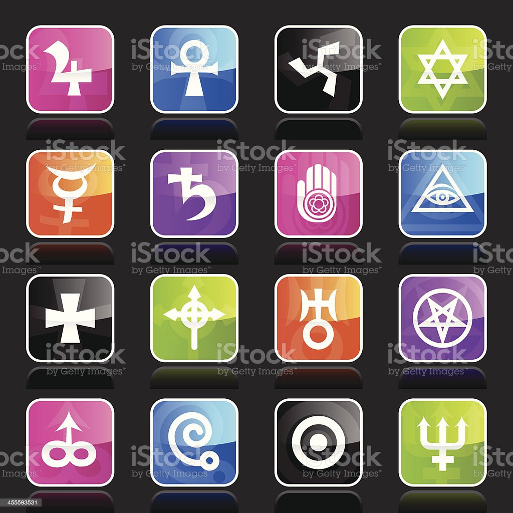 Ubergloss Icons - Esoteric royalty-free stock vector art