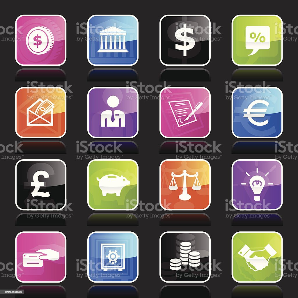 Ubergloss Icons - Finance royalty-free stock vector art