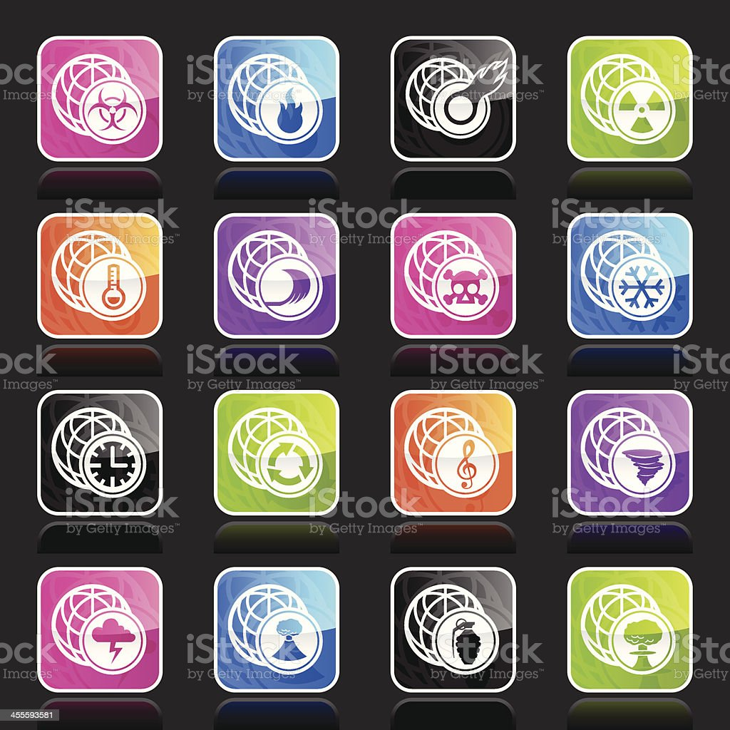 Ubergloss Icons - Global Issues royalty-free ubergloss icons global issues stock vector art & more images of accidents and disasters