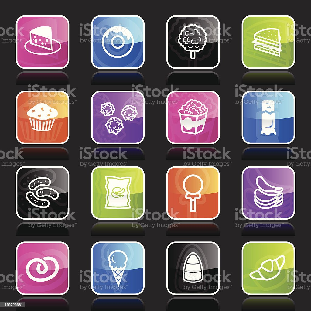 Ubergloss Icons -  Junk Food royalty-free stock vector art