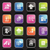 Illustration containing different online education related icons.