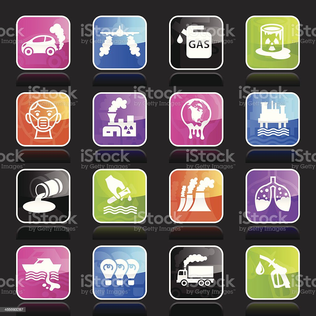 Ubergloss Icons - Pollution royalty-free stock vector art