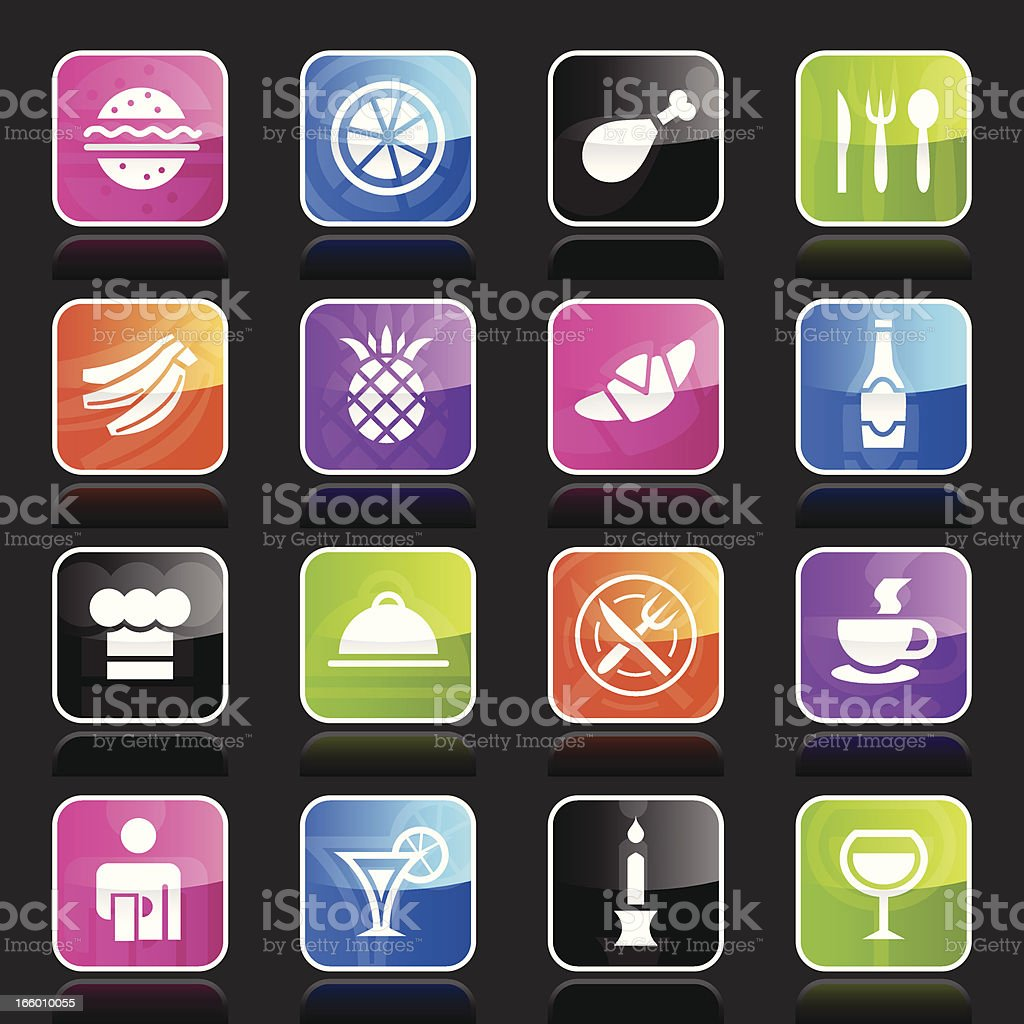 Ubergloss Icons - Restaurant royalty-free stock vector art