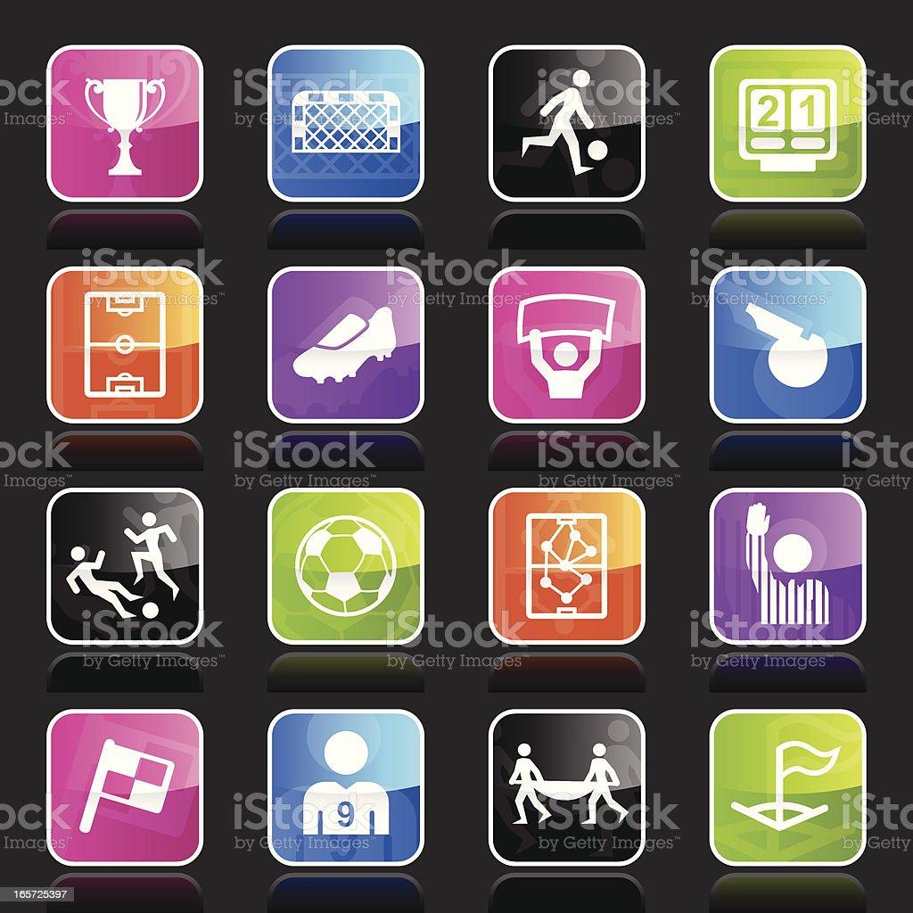 Ubergloss Icons - Soccer vector art illustration