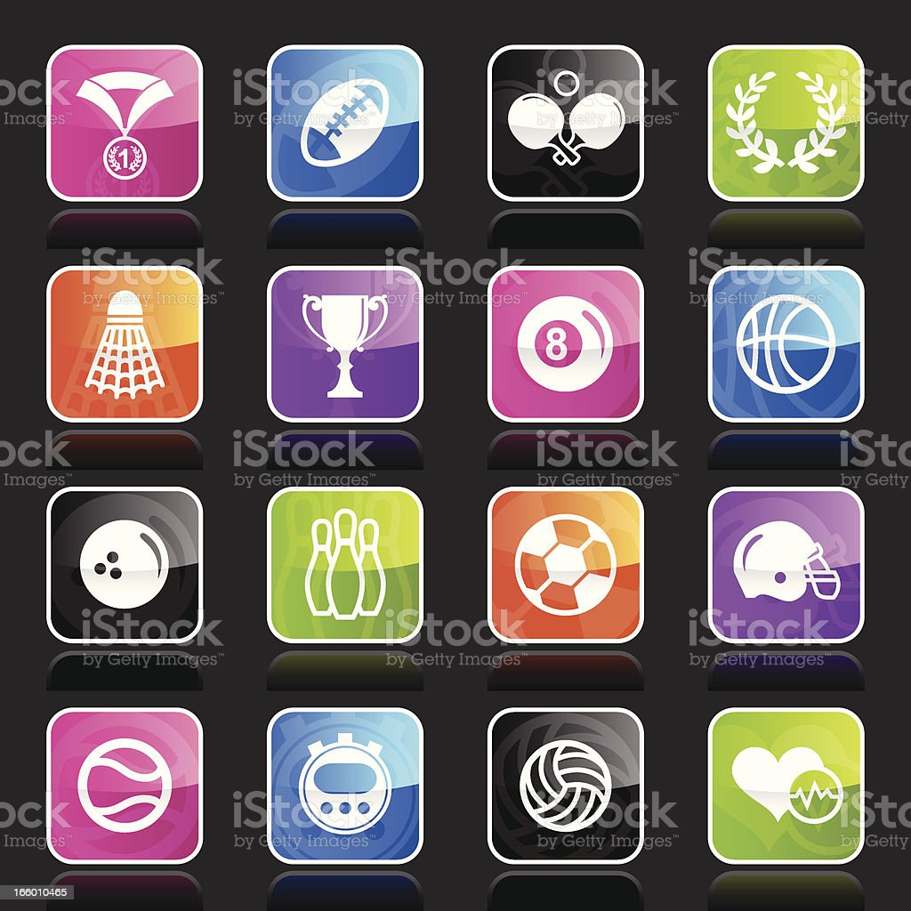 Ubergloss Icons - Sports royalty-free stock vector art
