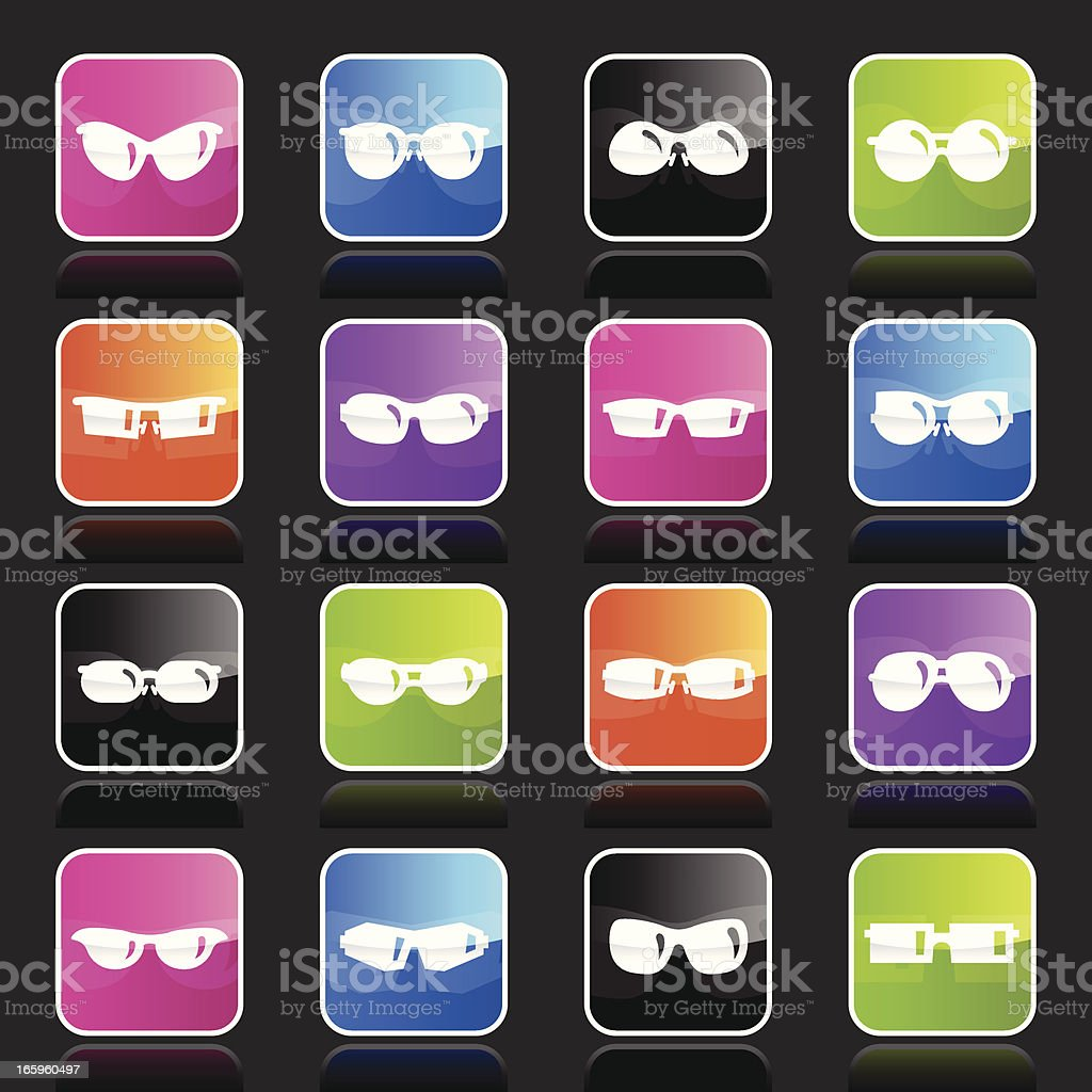 Ubergloss Icons - Sunglasses royalty-free stock vector art
