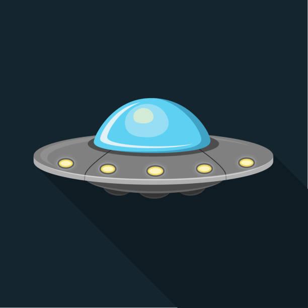stockillustraties, clipart, cartoons en iconen met ufo plat ontwerp - ufo