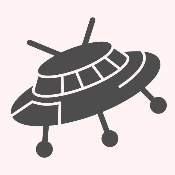 Ufo glyph icon. Alien spaceship. Astronomy vector design concept, solid style pictogram on white background, use for web and app. Eps 10. Ufo glyph icon. Alien spaceship. Astronomy vector design concept, solid style pictogram on white background, use for web and app. Eps 10 ancient civilization stock illustrations