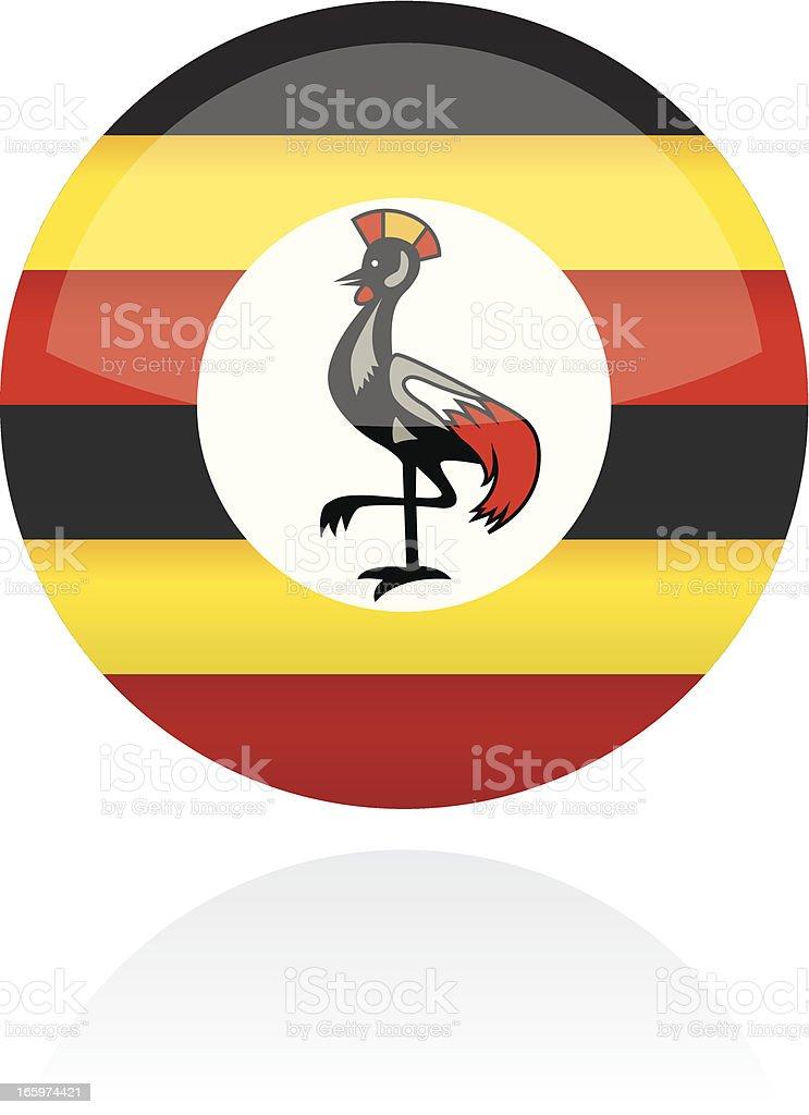 Uganda, Africa Flag Button royalty-free stock vector art