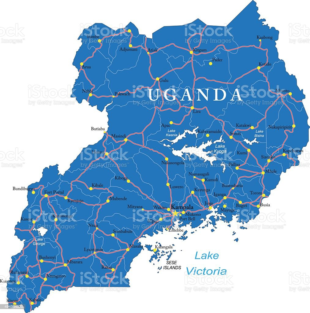 Uganda Map Stock Illustration Download Image Now Istock