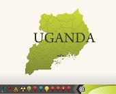 close up flag of Uganda