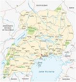 uganda vector road map.