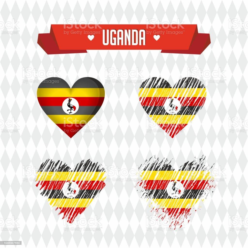 Louganda Avec Amour Conception De Vecteur Coeur Brise Avec