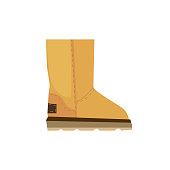 Ugg shoe illustration