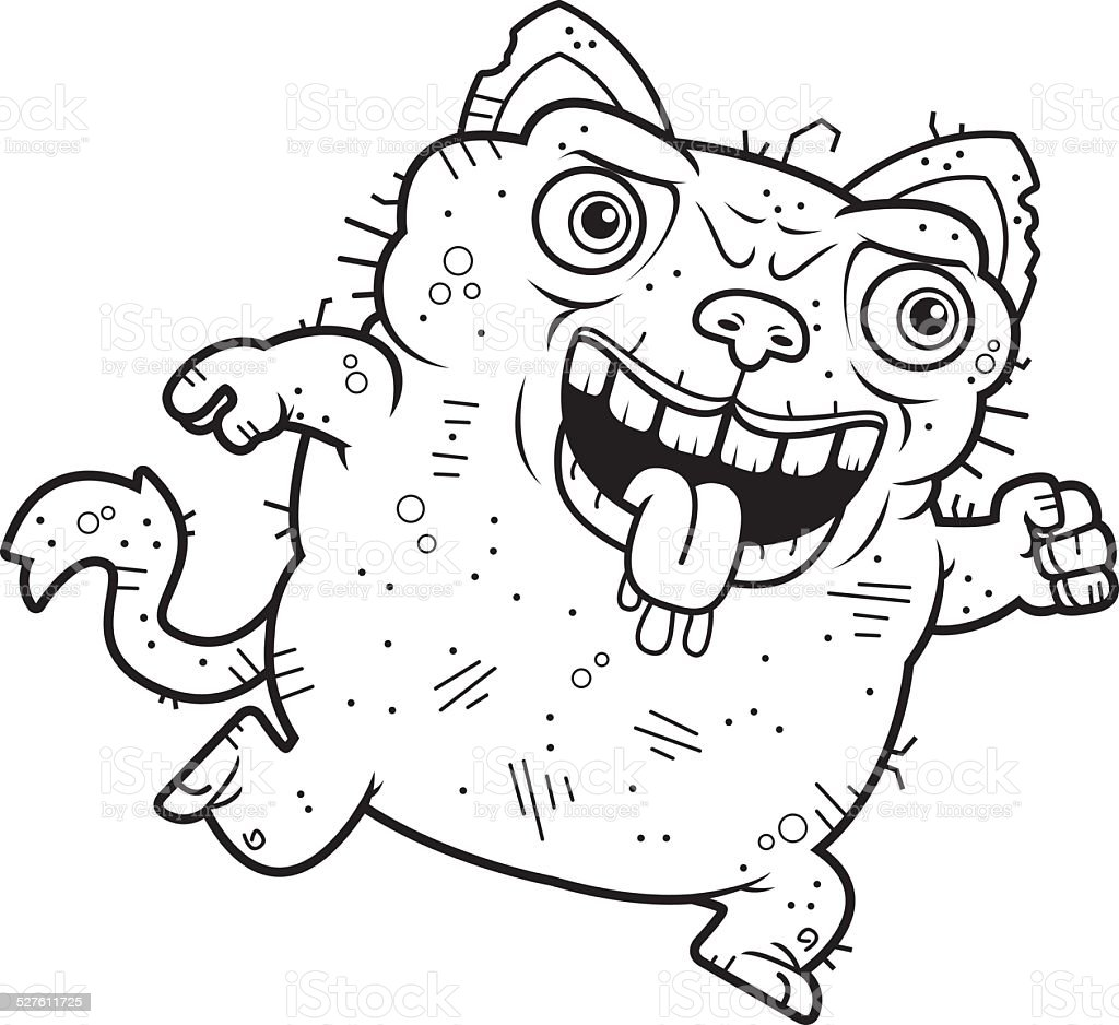 Ugly Cat Running Stock Illustration Download Image Now Istock