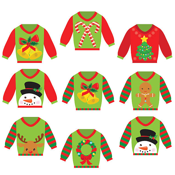 Royalty Free Ugly Holiday Sweater Clip Art, Vector Images ...