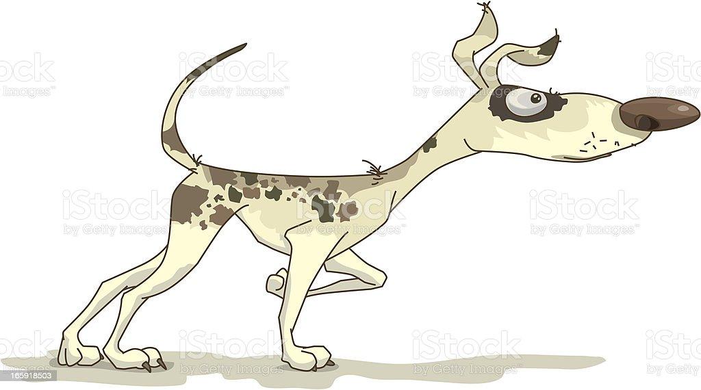 ugly dog vector art illustration