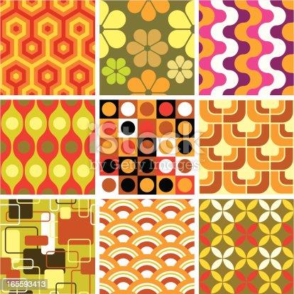 istock Ugly retro seamless patterns 165593413