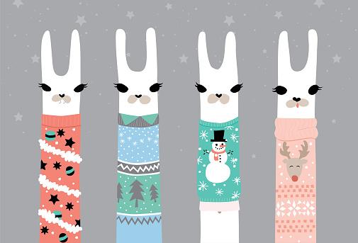Ugly Sweater Christmas Llamas