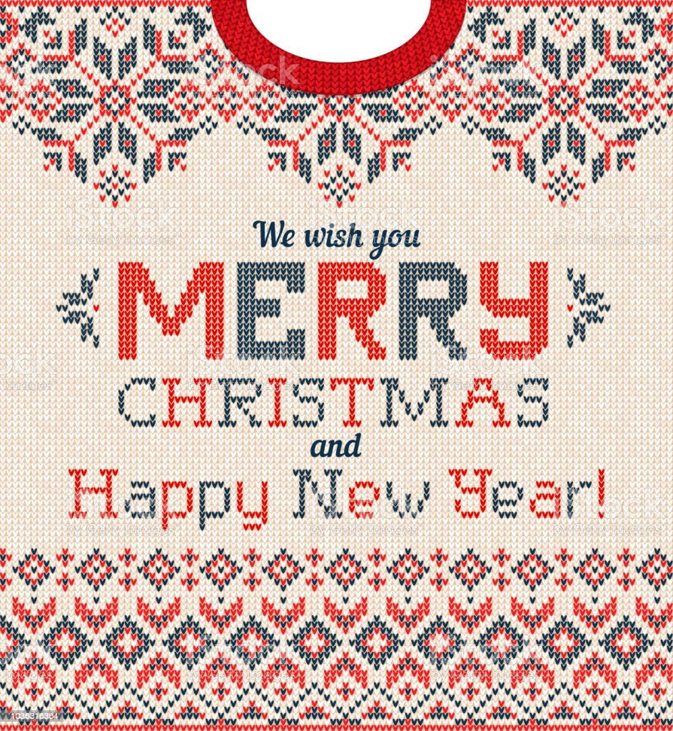 ugly sweater christmas party greeting card knitted background scandinavian pattern royalty free ugly sweater